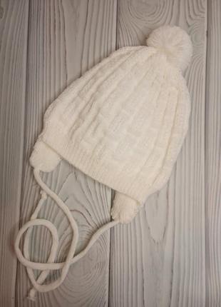 Шапка шапочка для новорожденных молоко