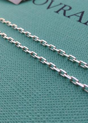 Срібний ланцюг, серебряная цепочка 55 см якорное плетение