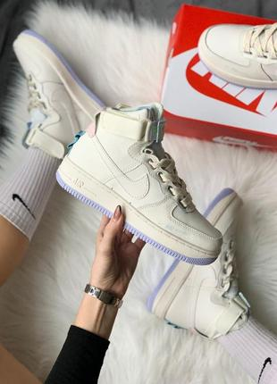 Шикарные женские кроссовки nike af1 utility sportswear cream high