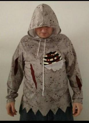 Карнавальный костюм мужской зомби на хэллоуин м-л