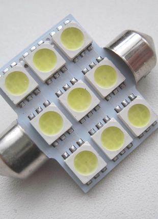 Лампа светодиодная Т10 C5w C10W салона
