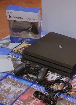 Sony Playstation 4 Pro 1TB + 16Игр На Дисках Игровая Приставка