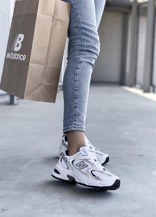 Кроссовки женские нью беланс new balance 530 white silver