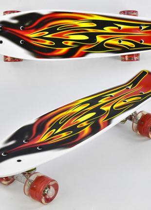 Скейт Пенні Борд Best Board 4380 дошка 55см, колеса PU, світяться