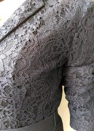 Кружевной пиджак черный