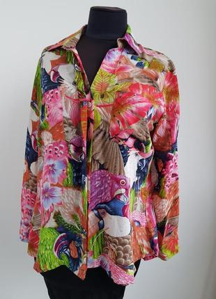 Яркая блуза из гонконга la roseraire