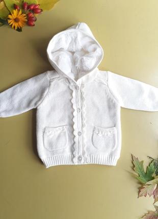 Теплая кофта на меху на новорожденную