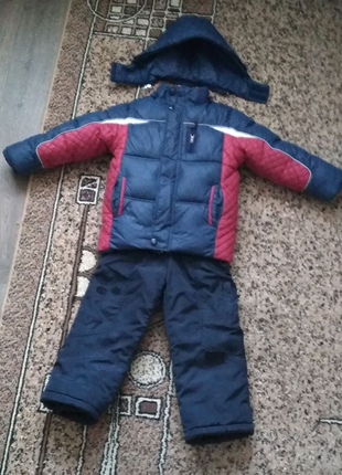 Зимняя курточка + полукомбинезон рост 104-116