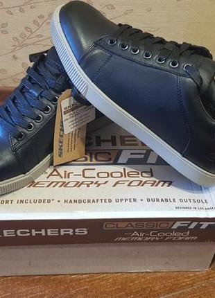 Кожаные кеды кроссовки туфли Skechers
