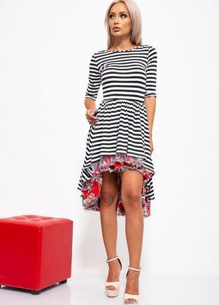 Платье черно-белое с декором