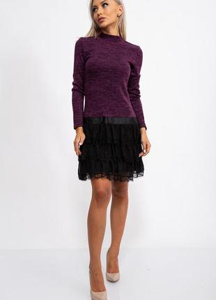 Мини платье фиолетового цвета