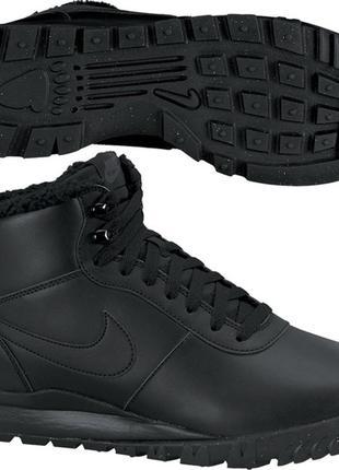 Кожаные ботинки/кроссовки на меху nike made in vietnam 43 р.