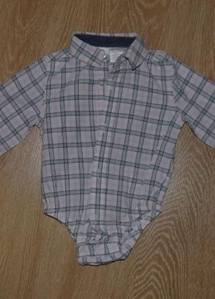 Рубашка на мальчика 6-9 месяцев