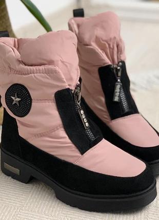 Ботинки из натуральной замши, зима