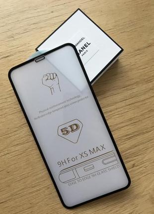 Защитное 5d стекло на iphone xs max для айфон 3d 4d