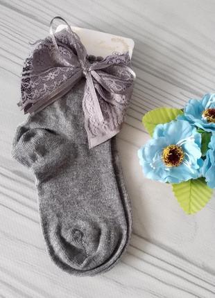 Серые нарядные носки на девочек 5-6, 11-12 лет, турция