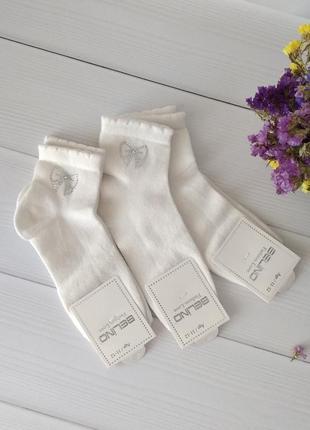 Нарядные носки со стразами для девочек 11-12 лет, турция белино