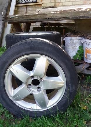 Диски с зимней резиной 205 55 16 Renault  meganell.Цена 3000грн
