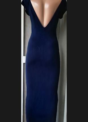 Платье миди футляр zara knit