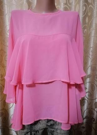 🌺🌺🌺красивая новая женская блузка, кофта с воланом eco italy🌺🌺🌺