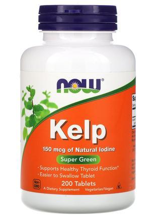 Келп, 150 мкг, 200 таблеток Now Foods, США