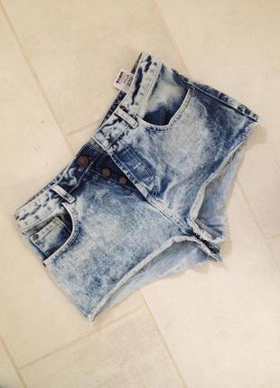 Шорты джинсовые посадка высокая варенки