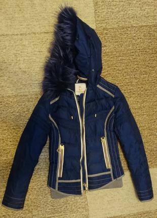 Куртка для девочки размер S весна, осень б.у.