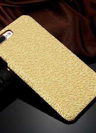 Пластиковый чехол Золотой узор Желтый для iPhone 7