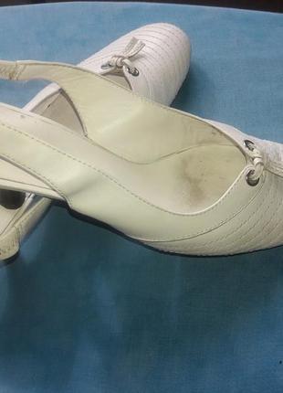 Туфли летние ecco кожаные, 38 размер