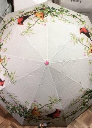 Зонт полуавтомат женский (антиветер)! эпонж