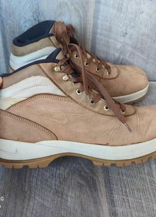 Теплые кожаные ботинки nike 45/29,5см