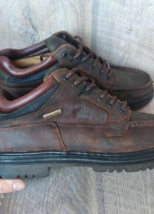 Кожаные ботинки мужские timberland на мембране gore tex 44р/29см