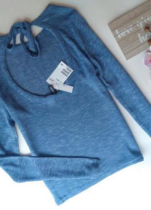 Джемпер пуловер кофточка с открытой спиной xs,s от h&m