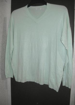 Джемпер свитер кофта charles voegele голубой бирюзовый мятный