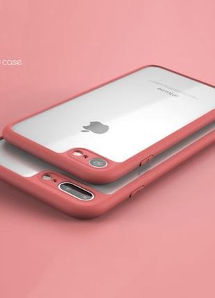 Силиконовый чехол с пластиковой крышкой Keziwu Красный для iPhone