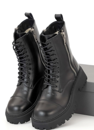 Зимові жіночі черевики balеnciaga tractor (36-40) хутро