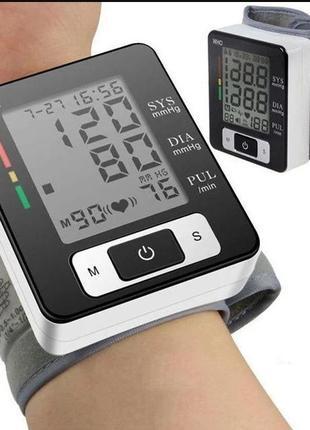 Автоматический тонометр на запястье для измерения давления и п...