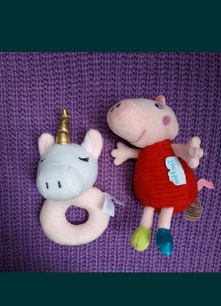 Погремушка, игрушка свинка Пеппа (My first Peppa pig),единорог