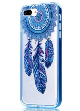 Силиконовый чехол Soznoc Dreamcatcher Blue для iPhone 7