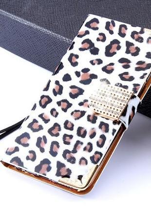 Чехол Luxury Sexy Leopard Леопард Белая для iPhone 7
