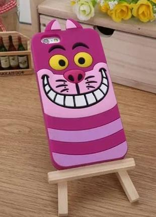 Силиконовый чехол Animal Alice Cat для iPhone 7
