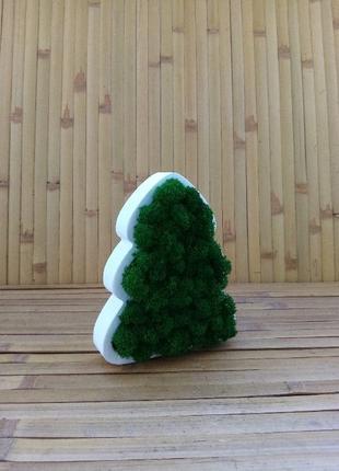 Новорічно різдвяна ялинка з дерева та стабілізованого моху