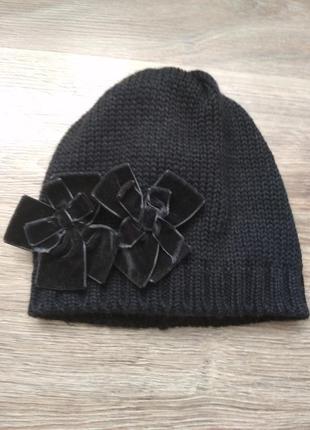 Тёплая шапка из мериносовой шерсти, италия