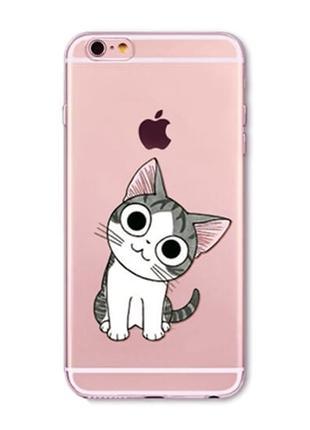 Силиконовый чехол Cute Kitten для iPhone 7