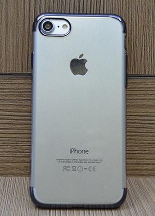 Силиконовый чехол Floveme Luxury Черный для iPhone 7&7s