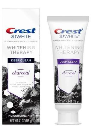 Отбеливающая зубная паста с углем crest 3dwhite whitening ther...