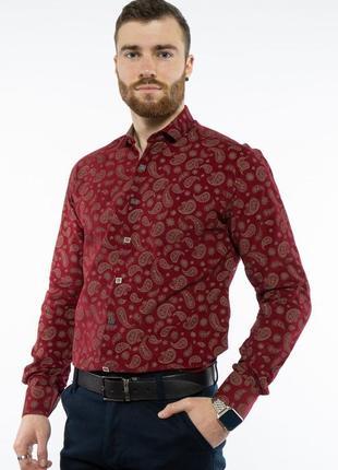 Рубашка мужская с принтом