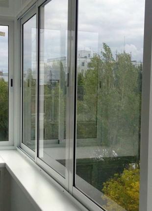 Раздвижной алюминиевый балкон