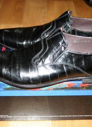 Шикарные туфли из кожи угря новые