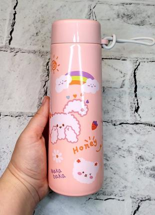 Термос термокружка honey,розовый, 320 мл